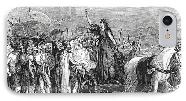 Boudica Leading British Tribes 60 Ad Phone Case by Photo Researchers