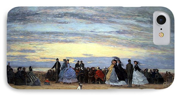 Boudin's The Beach At Villerville IPhone Case by Cora Wandel