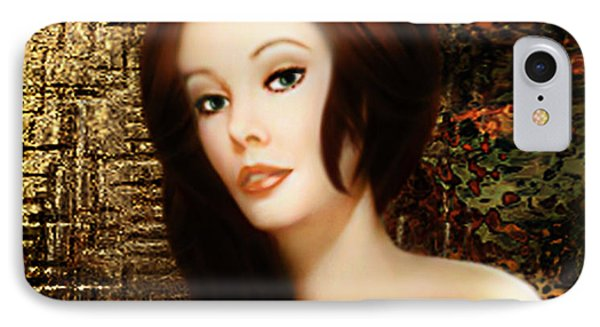 IPhone Case featuring the digital art Boudoir Moment - Digital Painting By Giada Rossi by Giada Rossi