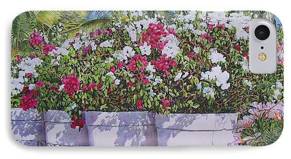 IPhone Case featuring the mixed media Bougainvillea by Constance Drescher