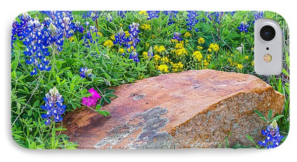 Boulder And Bluebonnets Phone Case by Thomas Pettengill