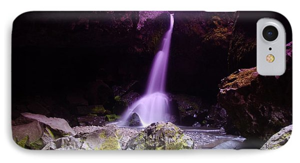 Boulder Cave Falls  Phone Case by Jeff Swan