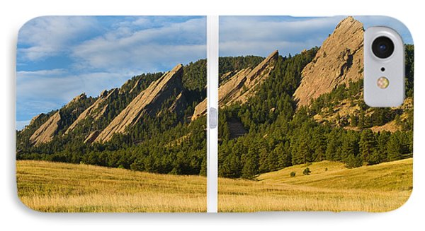 Boulder Colorado Flatirons White Window Frame Scenic View Phone Case by James BO  Insogna