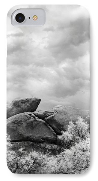 Boulders In Another Light IPhone Case by Michael McGowan