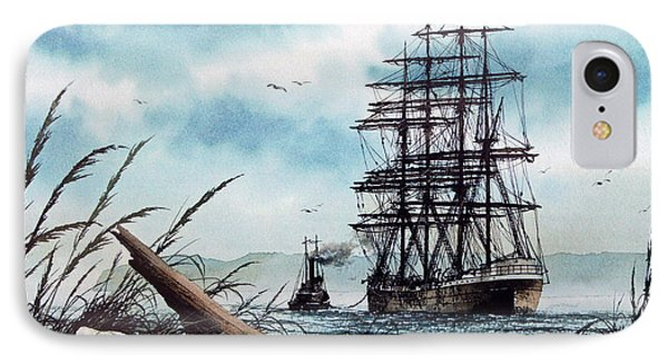 Bound For Blue Water IPhone Case by James Williamson