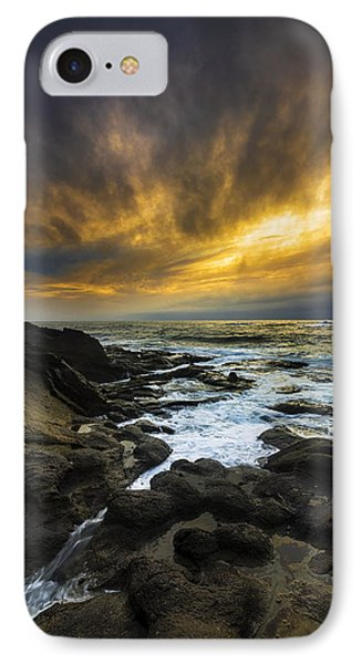 Boundary Of The Sea IPhone Case by Robert Bynum