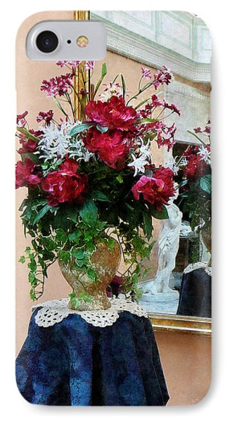 Bouquet Of Peonies With Reflection Phone Case by Susan Savad