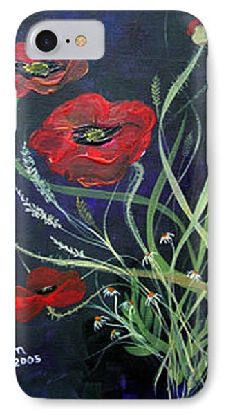 IPhone Case featuring the painting Bouquet Of Poppies by Dorothy Maier