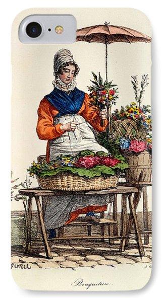 Bouquetiere Des Bouquets Pour Margot Phone Case by Carle Vernet
