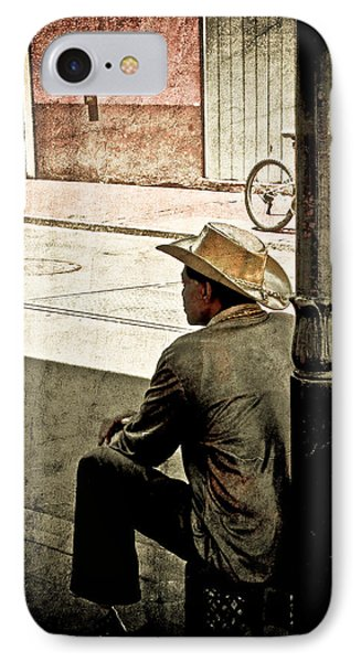 IPhone Case featuring the photograph Bourbon Cowboy In New Orleans by Ray Devlin