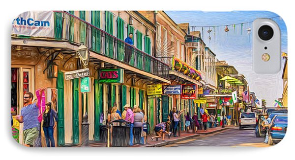 Bourbon Street Afternoon - Paint IPhone Case by Steve Harrington