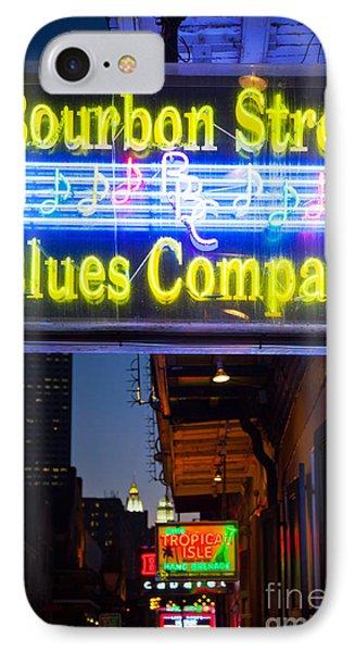 Bourbon Street Blues Company IPhone Case by Inge Johnsson