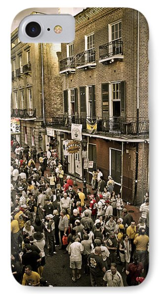 IPhone Case featuring the photograph Bourbon Street Party by Ray Devlin