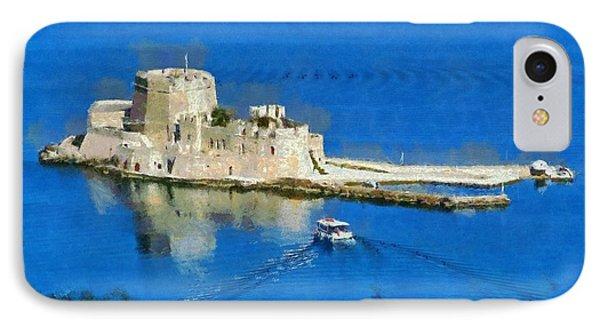 Bourtzi Fortress Phone Case by George Atsametakis