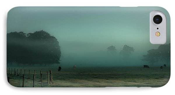 Bovines In The Mist IPhone Case by Chris Fletcher