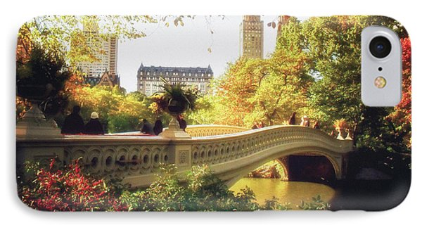Bow Bridge - Autumn - Central Park IPhone Case