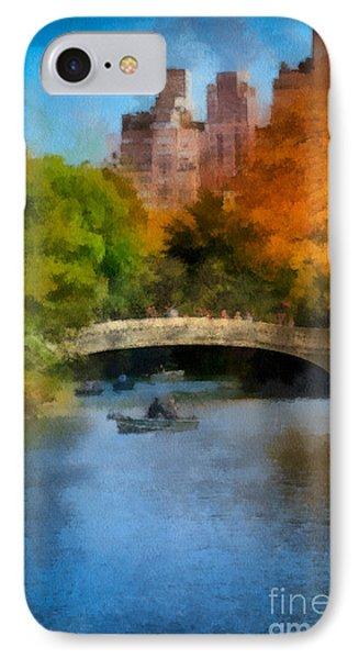 Bow Bridge Central Park Phone Case by Amy Cicconi
