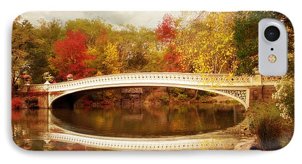 IPhone Case featuring the photograph Bow Bridge Reflected by Jessica Jenney