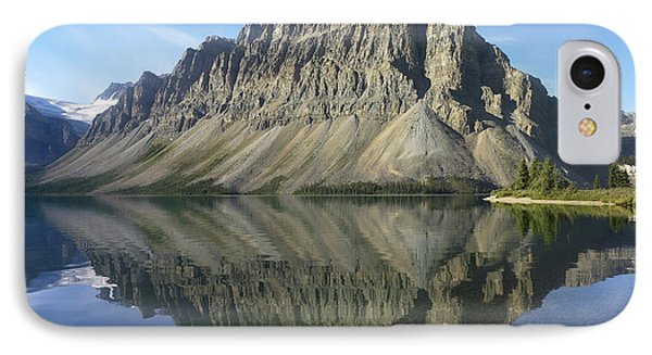 Bow Lake And Crowfoot Mts Banff IPhone Case by Tim Fitzharris