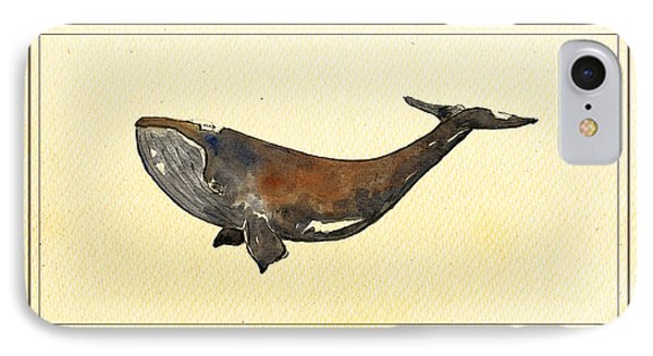 Bowhead Whale IPhone Case by Juan  Bosco