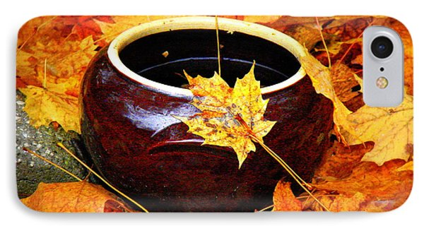 IPhone Case featuring the photograph Bowl And Leaves by Rodney Lee Williams