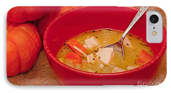 Bowl Of Homemade Chicken Noodle Soup IPhone Case