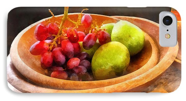 Bowl Of Red Grapes And Pears Phone Case by Susan Savad