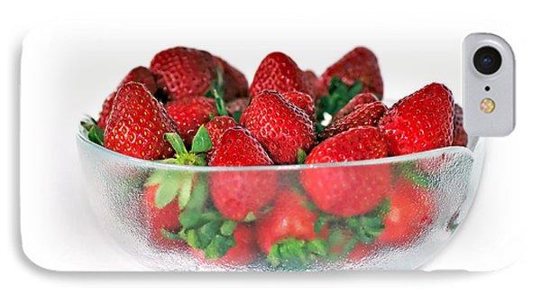 Bowl Of Strawberries Phone Case by Kaye Menner