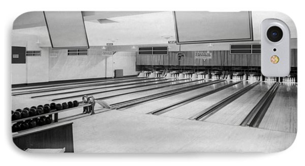 Bowling Alley Interior IPhone Case by Underwood Archives