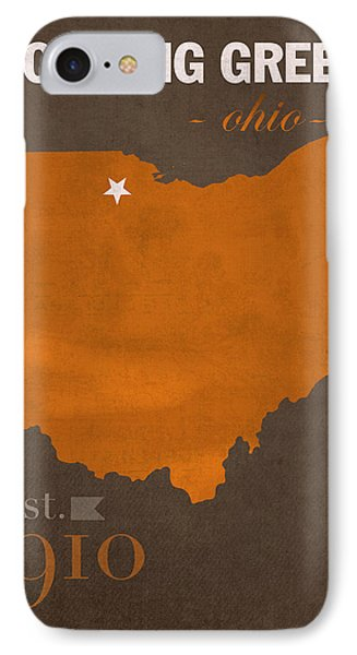 Bowling Green State University Falcons Ohio College Town State Map Poster Series No 021 IPhone Case