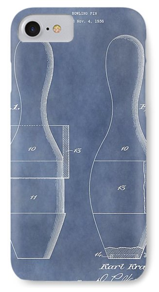 Bowling Pin Patent IPhone Case by Dan Sproul