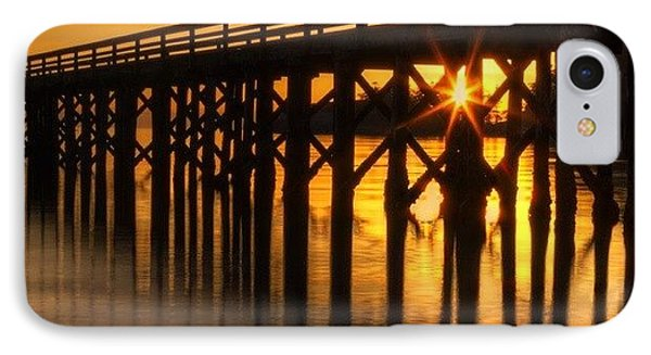 Bowman Bay Pier  #sunset IPhone Case by Mark Kiver