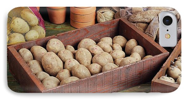 Box Of Potatoes IPhone 7 Case by Geoff Kidd