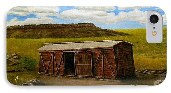 Boxcar On The Plains IPhone Case by Sheri Keith