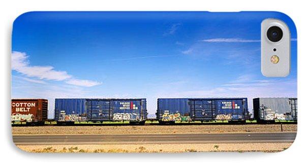 Boxcars Railroad Ca IPhone Case