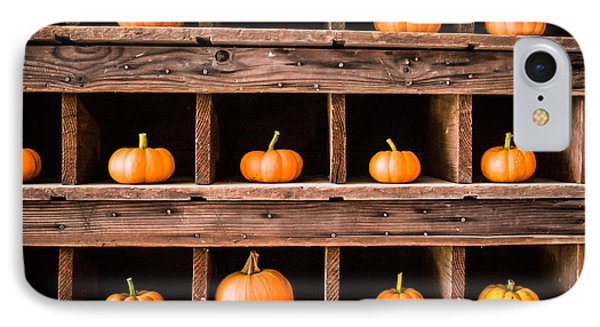 IPhone Case featuring the photograph Boxed In Pumpkins by Dawn Romine