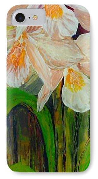 Boxed Orchids IPhone Case by Anna Skaradzinska