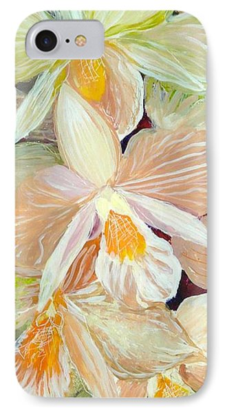 Boxed Orchids Detail Phone Case by Anna Skaradzinska