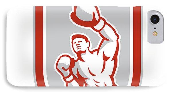 Boxer Boxing Punching Jabbing Circle Retro IPhone Case