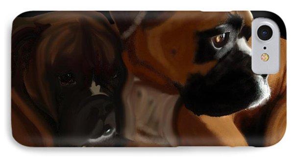 Boxer Brothers Phone Case by Christina Kulzer