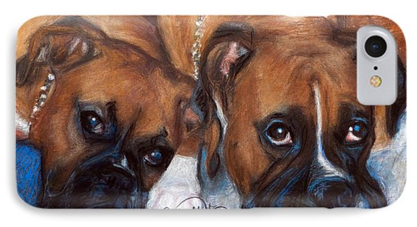 Boxer Buddies IPhone Case by Sciandra