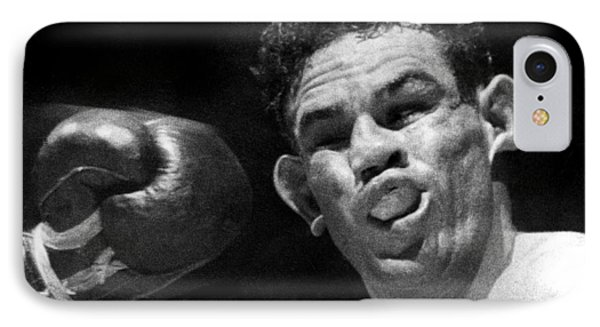 Boxer Catches A Left Hook IPhone Case by Underwood Archives