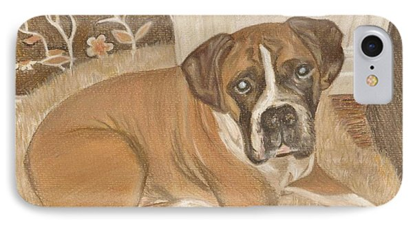 Boxer Dog George Phone Case by Faye Symons