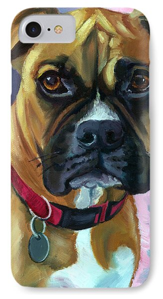 Boxer Dog Portrait Phone Case by Lyn Cook