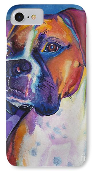 Boxer Dog Portrait Phone Case by Robyn Saunders