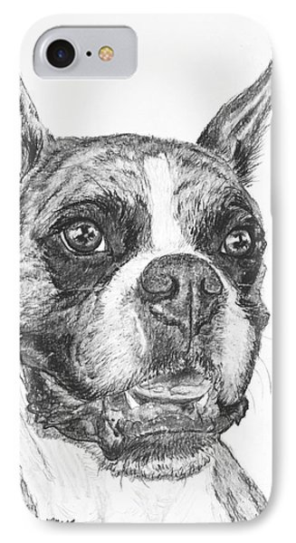 Boxer Dog Sketch Phone Case by Kate Sumners