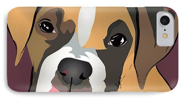 Boxer Puppy Pet Portrait  Phone Case by Robyn Saunders