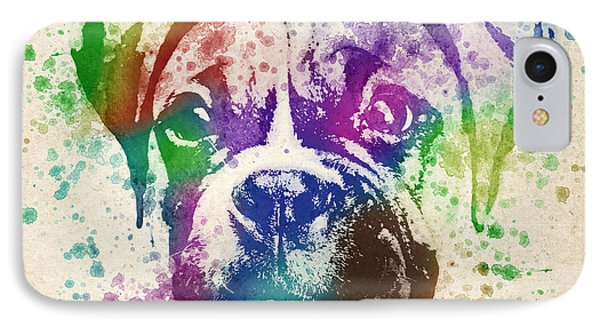 Boxer Splash IPhone Case by Aged Pixel