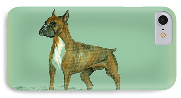 IPhone Case featuring the pastel Boxer by Terry Frederick