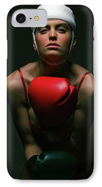boxing Girl 2 IPhone Case by Evgeniy Lankin